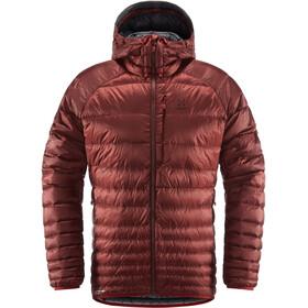 Haglöfs Essens Veste à capuche en duvet Homme, maroon red/magnetite